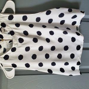 White shirt with Black Poke a Dots